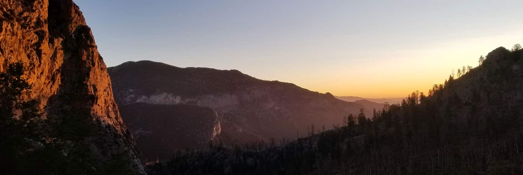 Sunrise on the Charleston Wilderness South Climb Trail in Nevada