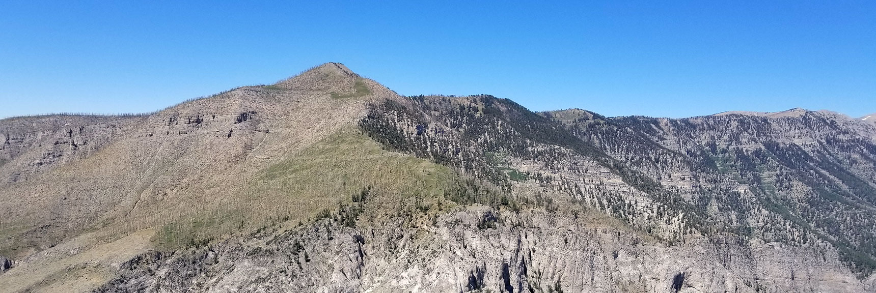 Look at the Griffith / Harris Descent Ridge from Harris Mountain Summit, Nevada