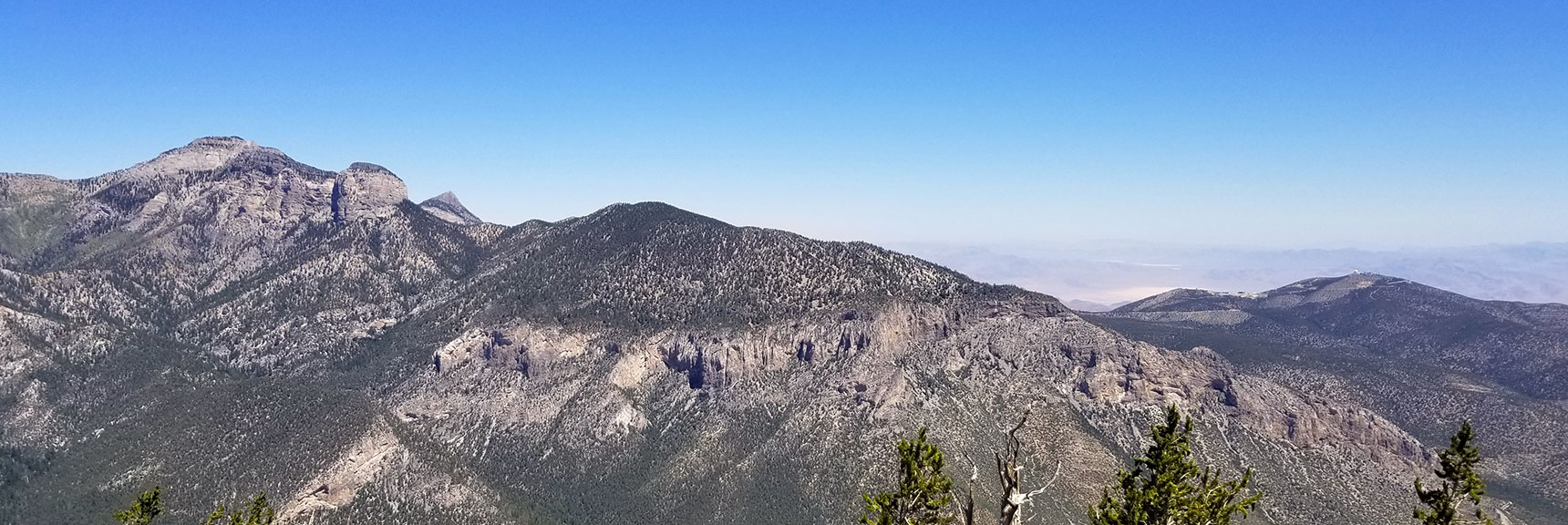 View of Mummy Mt. and Fletcher Peak from Harris Mountain, Nevada