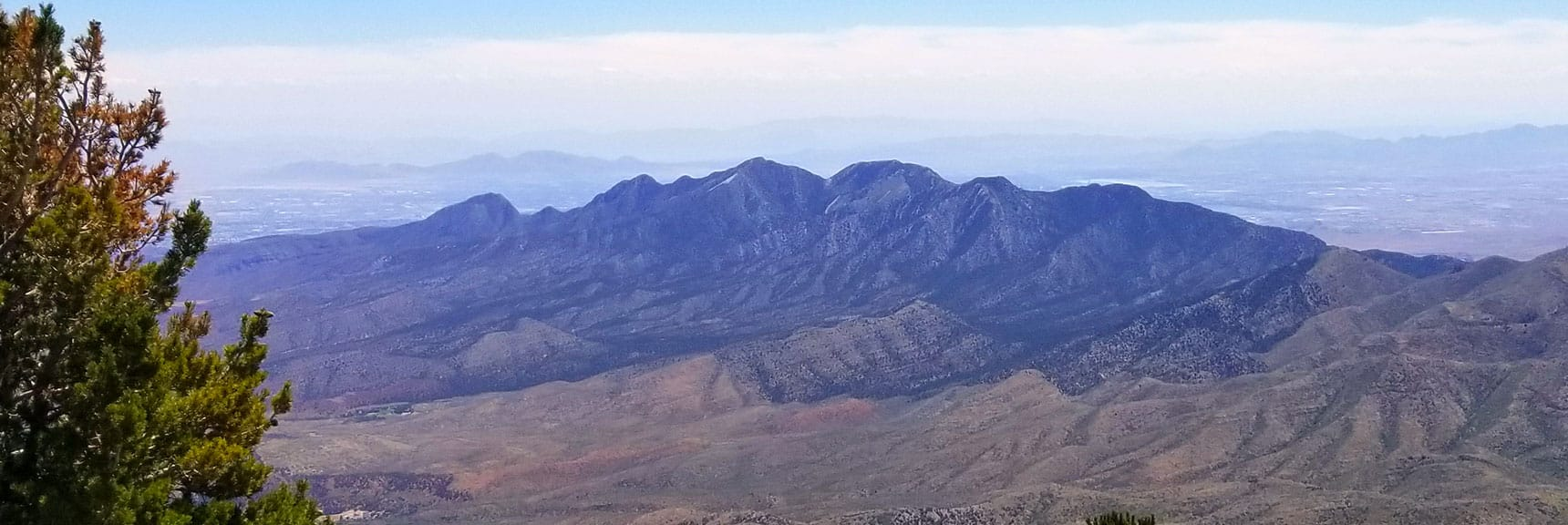 View of La Madre Mountains Wilderness from Harris Mountain Summit, Nevada