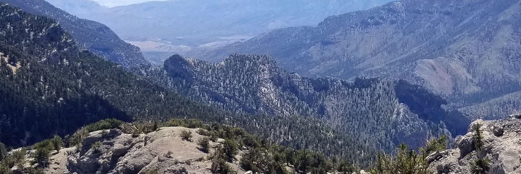 Cockscomb Peak and Ridge Viewed from Lee Peak Summit in Mt Charleston Wilderness, Nevada
