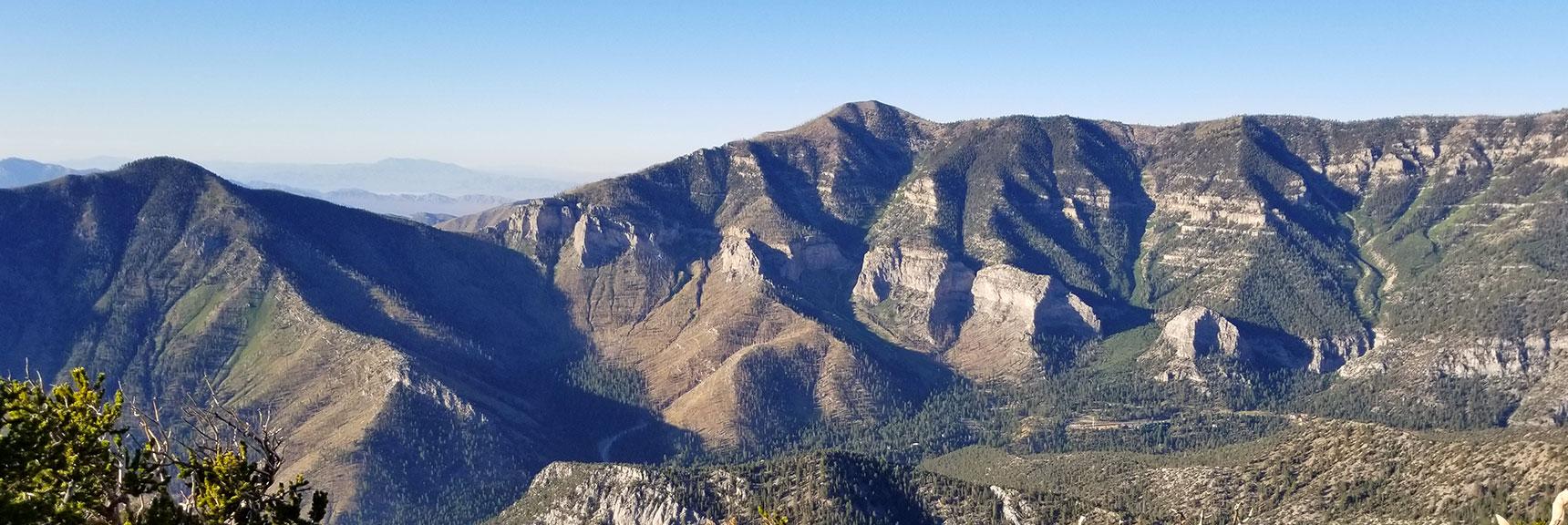 Entire Griffith Peak / Harris Mountain Circuit Viewed from Fletcher Peak Summit, Nevada