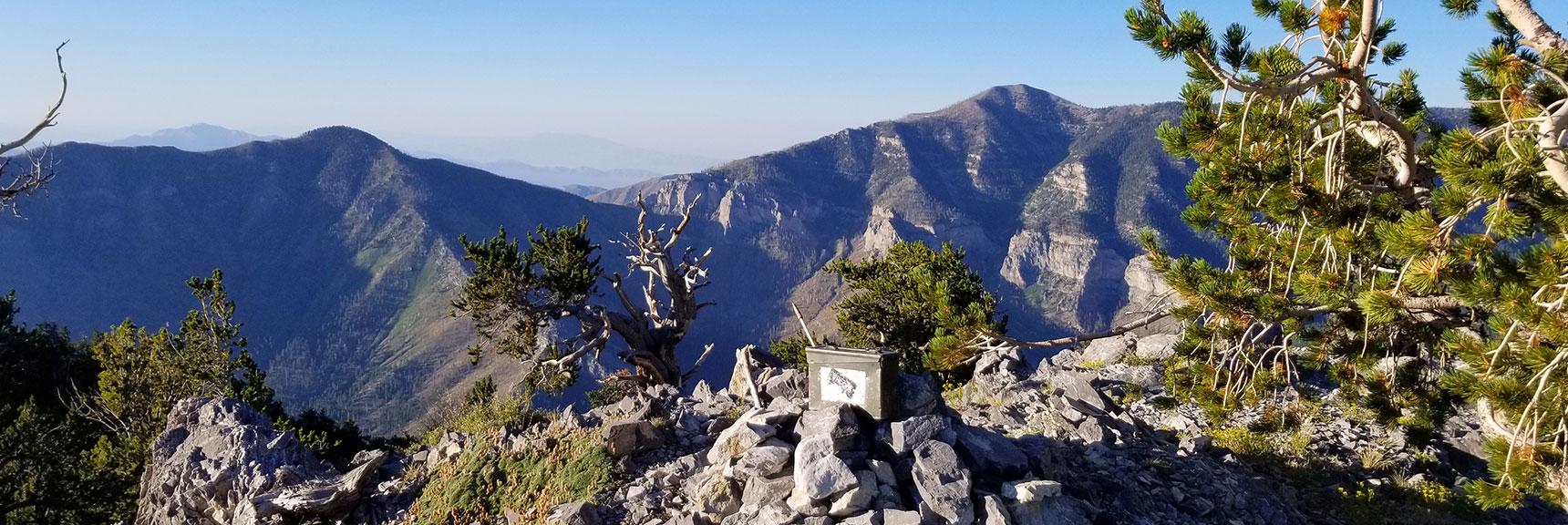 Early Morning on Fletcher Peak Summit in Mt. Charleston Wilderness, Nevada