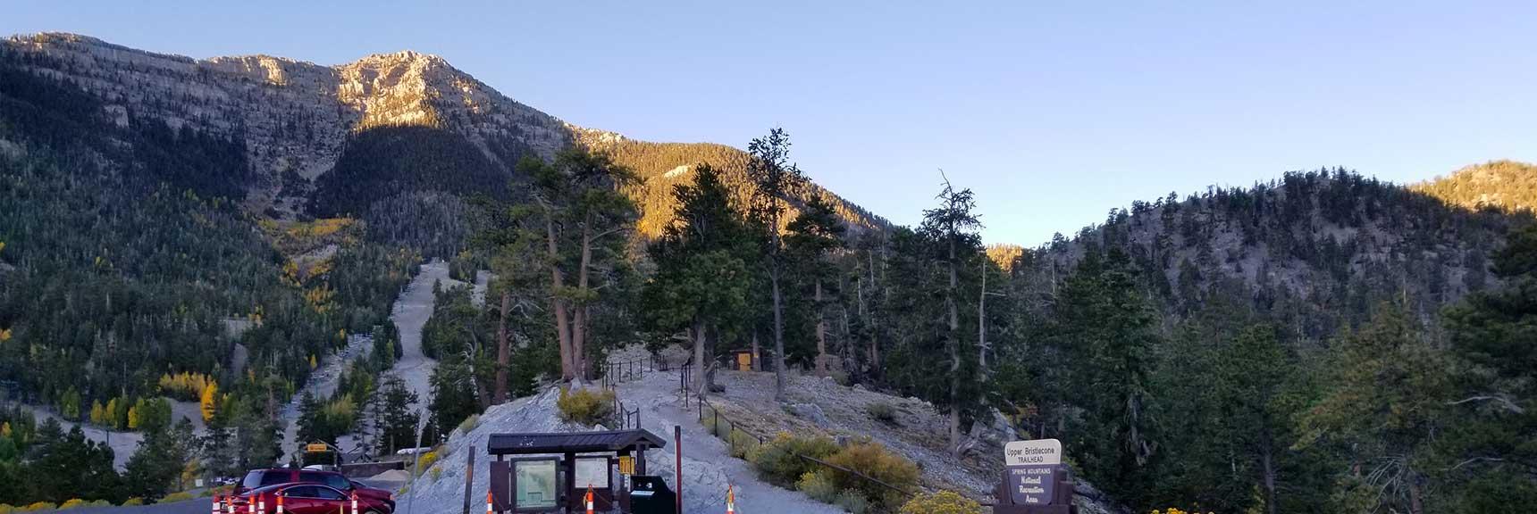 Bristlecone Pine Trail Trailhead in Lee Canyon, Mt. Charleston Wilderness, Nevada