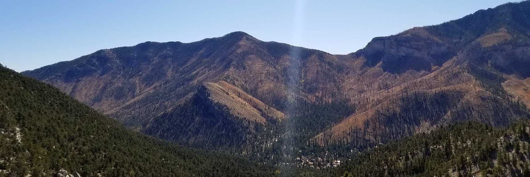 Harris Mountain as Frame of Reference on the Return Trip from Cockscomb Peak and Ridge in Mt. Charleston Wilderness, Nevada
