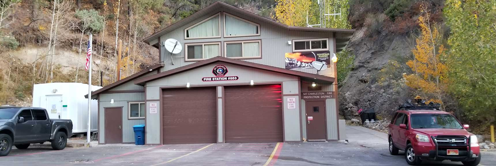 Fire Station on Kyle Canyon Rd, Cockscomb Ridge Wilderness Circuit in Mt. Charleston Wilderness, Nevada