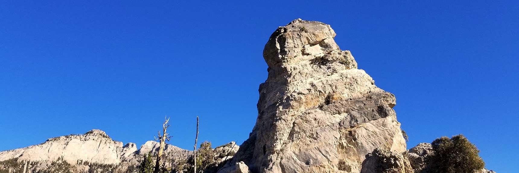 Cockscomb Peak on Cockscomb Ridge in Mt. Charleston Wilderness, Nevada