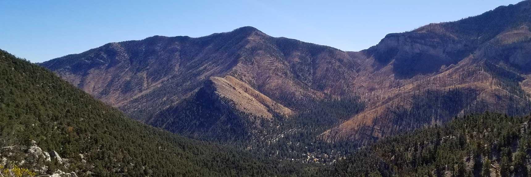 Heading toward Harris Mountain as Target Point of Reference on a Ridge Below Cockscomb Ridge in Mt. Charleston Wilderness, Nevada