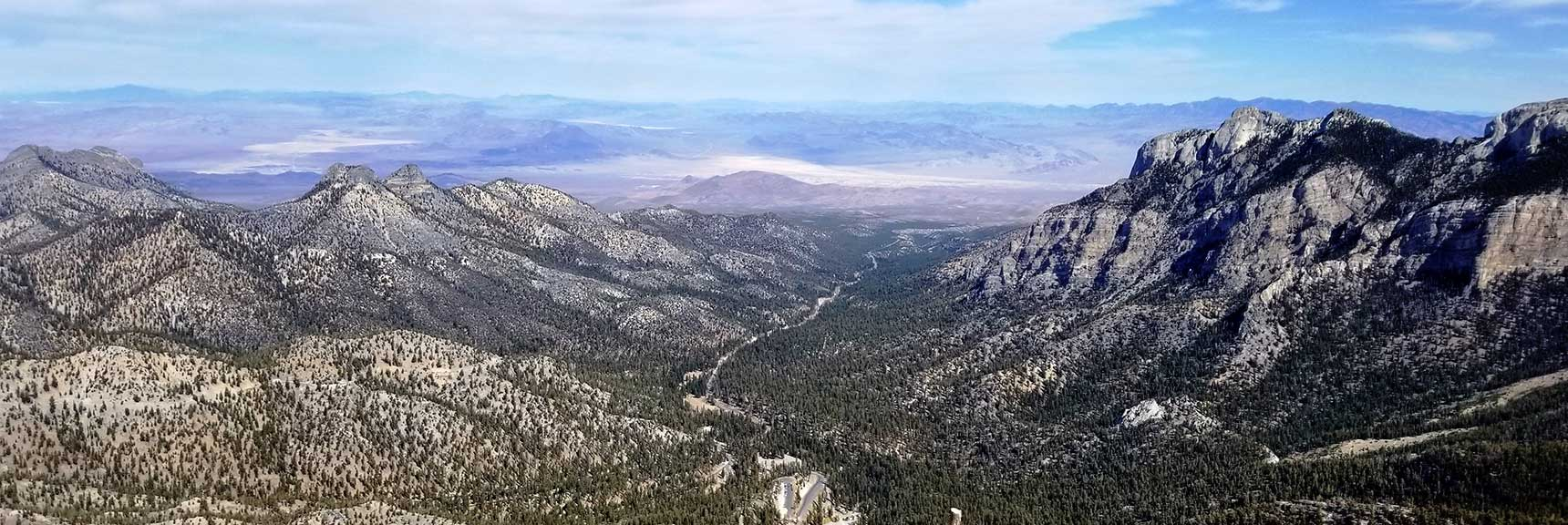 Lee Canyon Viewed from Lee Peak in Spring Mountains, Nevada Slide 001
