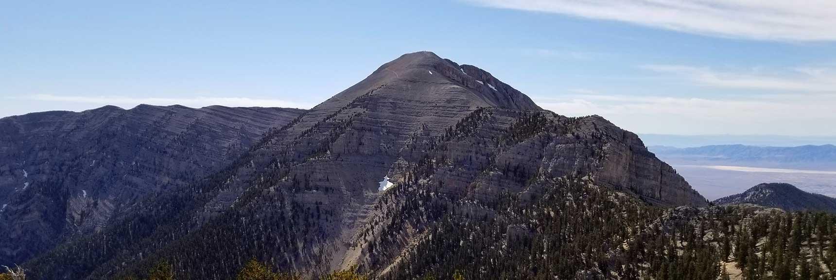 Charleston Peak Viewed from Lee Peak in Kyle Canyon, Spring Mountains, Nevada Slide 001