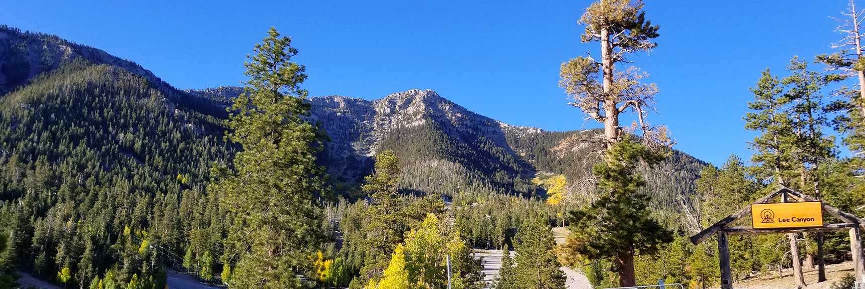 Lee Peak Viewed from Ski Area in Lee Canyon, Nevada