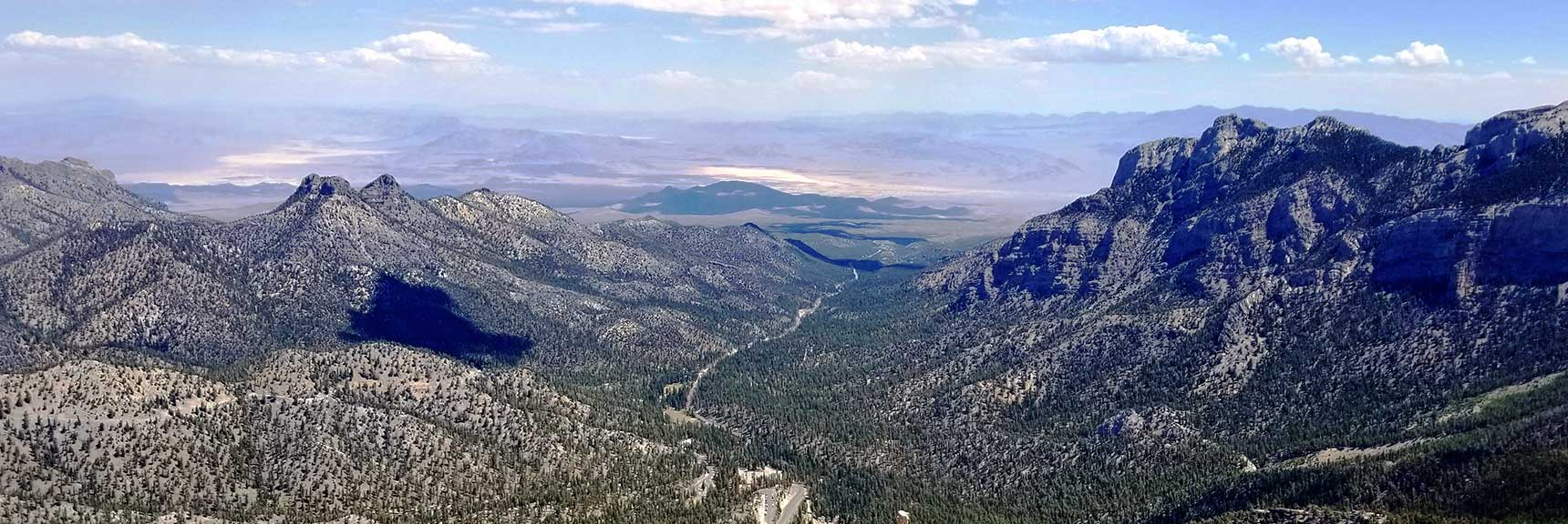 Sheep Range Viewed from Lee Peak, Nevada