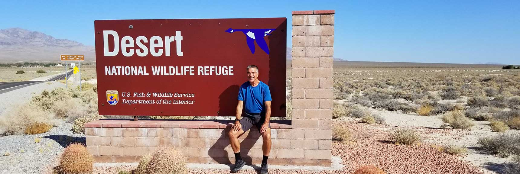 Entering Desert National Wildlife Refuge, Nevada