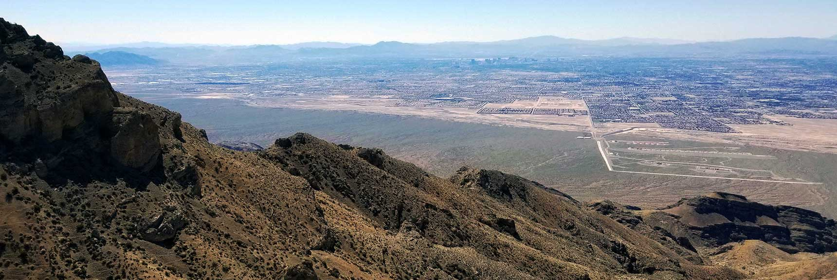 View of Las Vegas from Gass Peak Mid Summit North of Las Vegas, Nevada