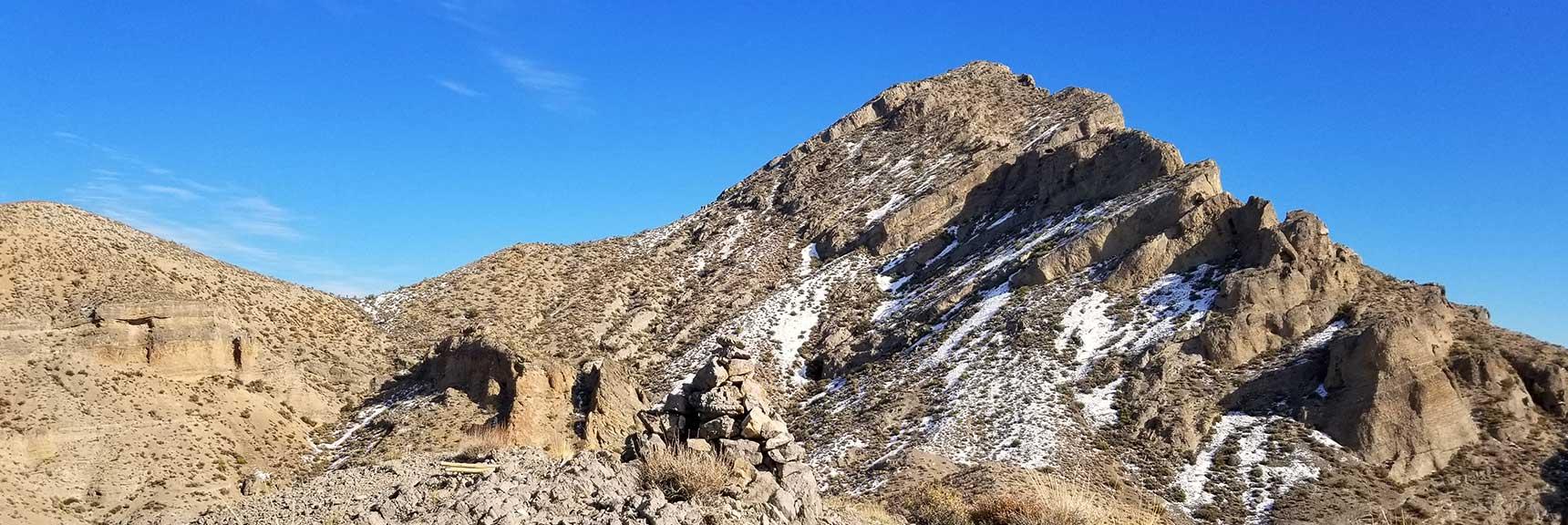 View toward Gass Peak Summit After Snow, Nevada