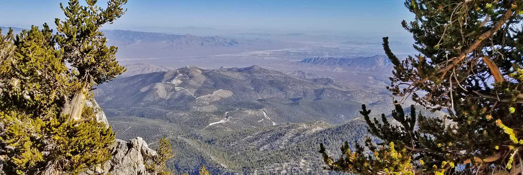 Looking Back Down the Final Approach to Mummy Mountain Summit, Nevada