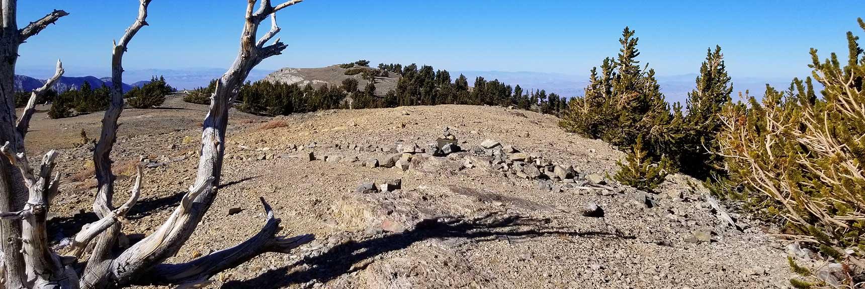 Looking Across Toward the NE Summit from the True Summit of Mummy Mountain, Nevada