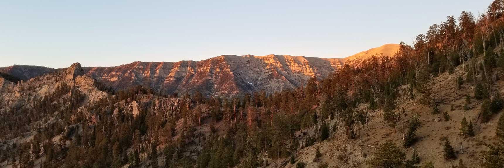 South Ridge of Kyle Canyon from Charleston Peak Toward Griffith Peak, Six Peak Circuit Adventure Strategy, Spring Mountains, Nevada