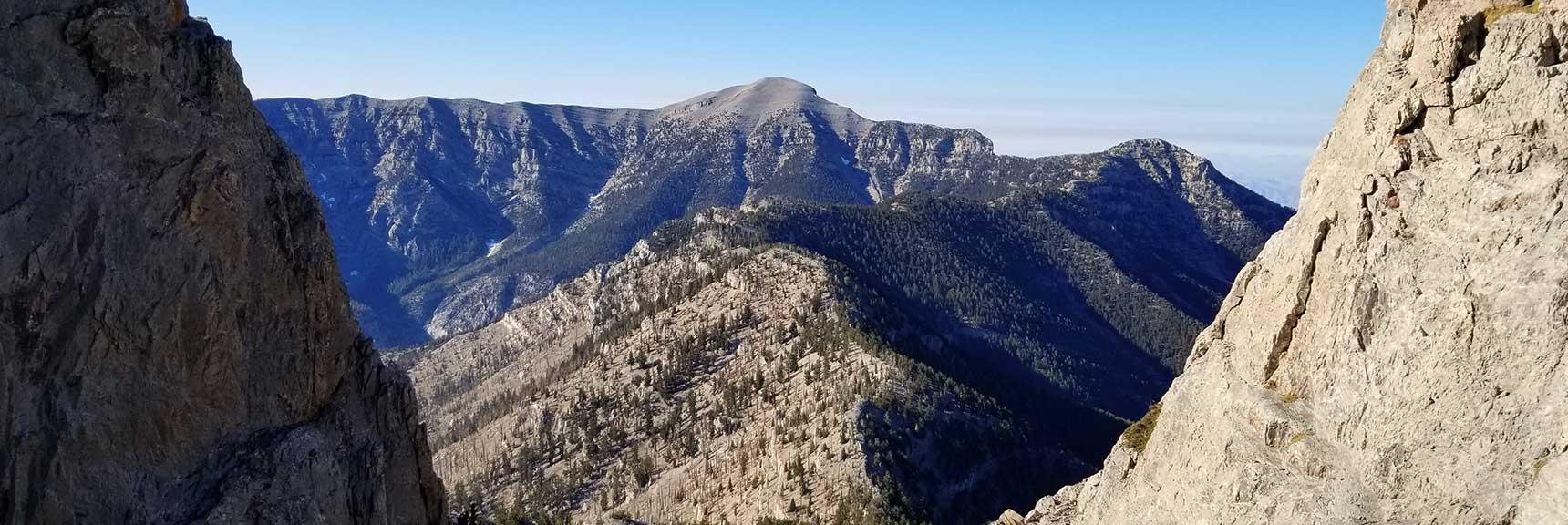Charleston Peak to Lee Peak and Kyle Canyon North Ridge to Mummy Mountain from Mummy Mt. Summit, Six Peak Circuit Adventure Strategy, Spring Mountains, Nevada