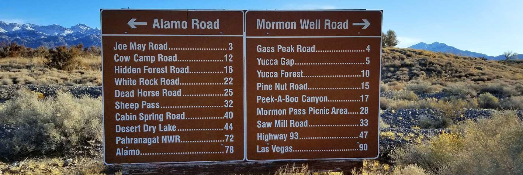 Unpaved Road Network in the Desert National Wildlife Refuge, Nevada
