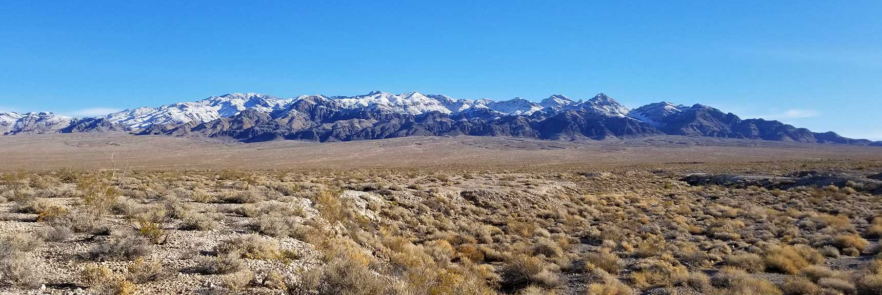Sheep Range Viewed from The Desert National Wildlife Refuge Visitor Center, Nevada