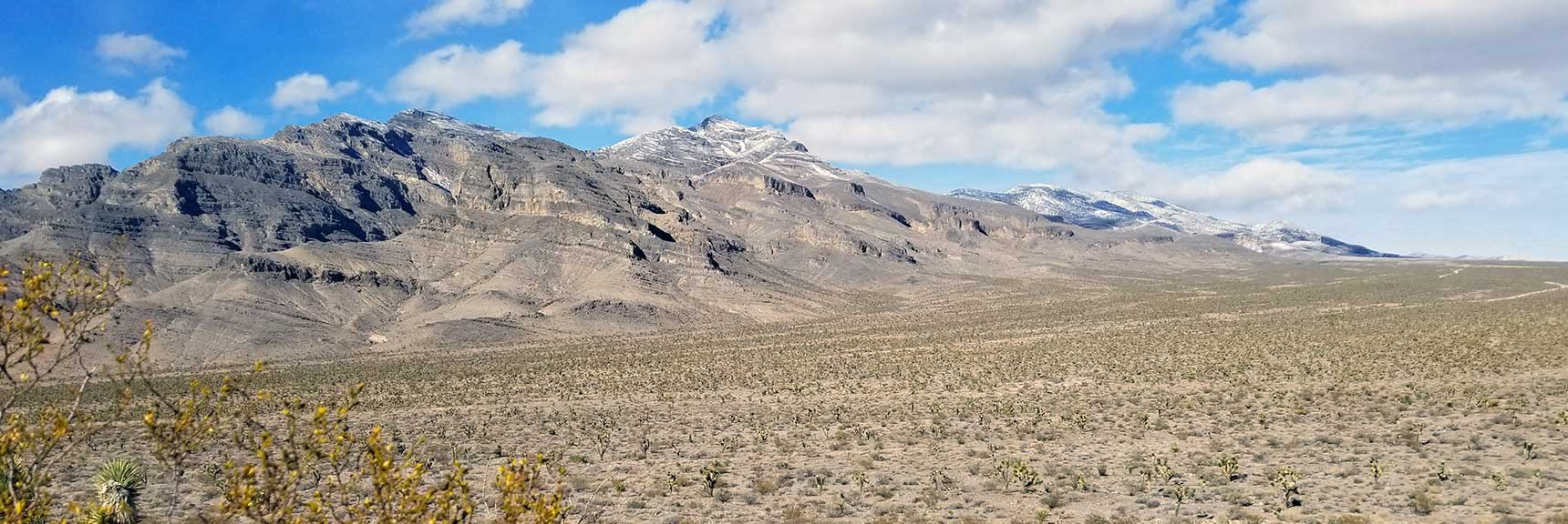 View of the East Side of the Sheep Range in the Desert National Wildlife Refuge, Nevada