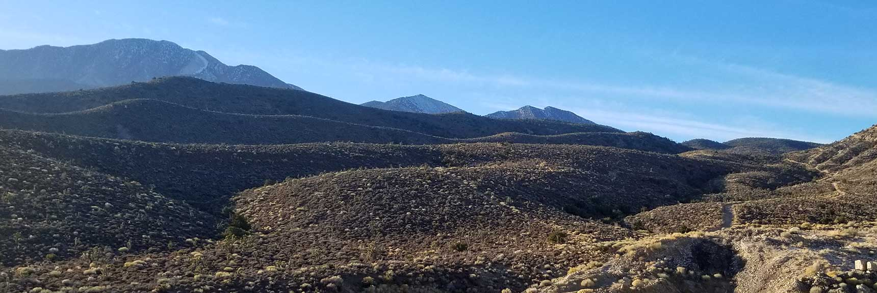 4-Wheel Drive Road System Begins, La Madre Mountain Wilderness from the North, Nevada