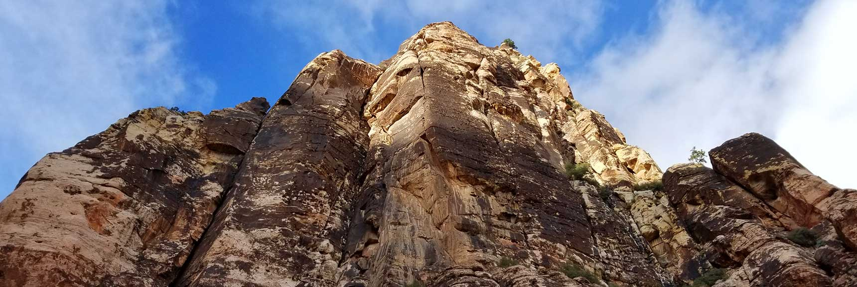 Mescalito Peak Viewed from the Gap Between Mescalito Peak and Juniper Peak in Pine Creek Canyon, Red Rock National Park, Nevada