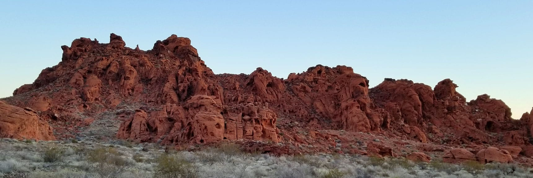 Rock Formations Just Beyond the Entrance of Valley of Fire State Park, Nevada