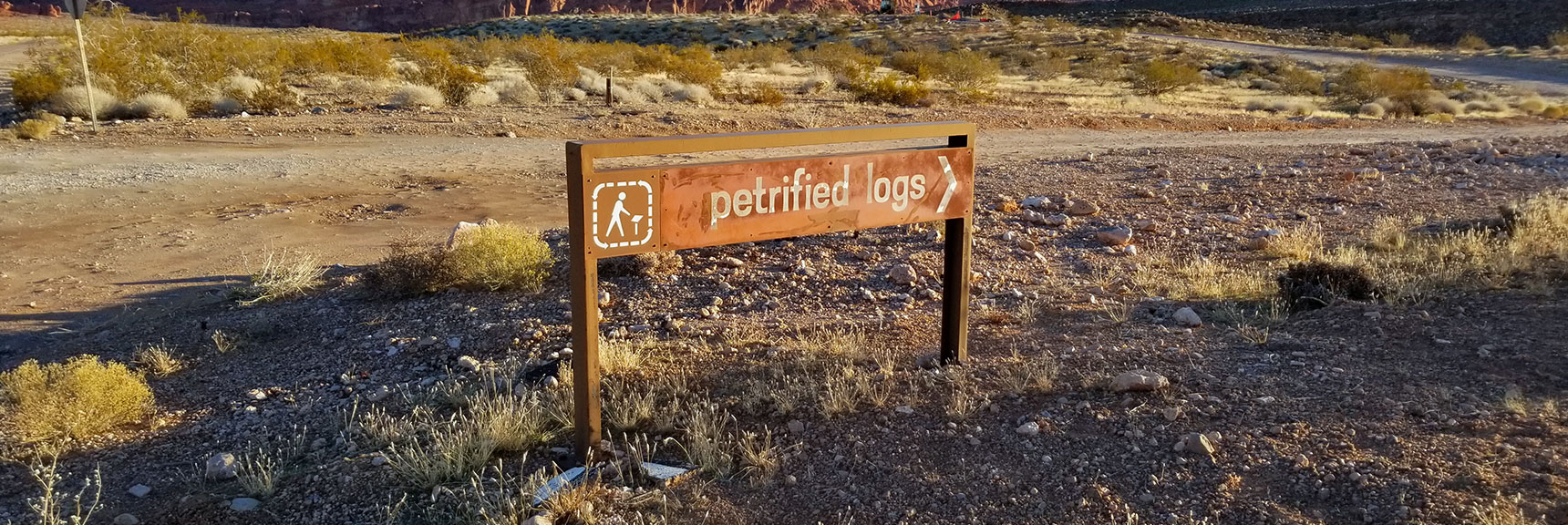 Entrance to Petrified Logs Loop in Valley of Fire State Park, Nevada