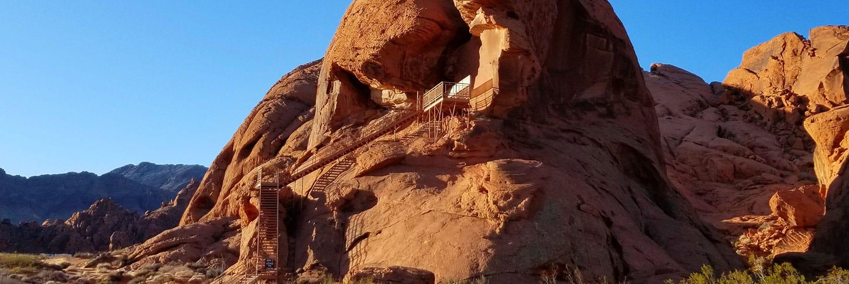 Atlatl Rock Petroglyphs in Valley of Fire State Park, Nevada