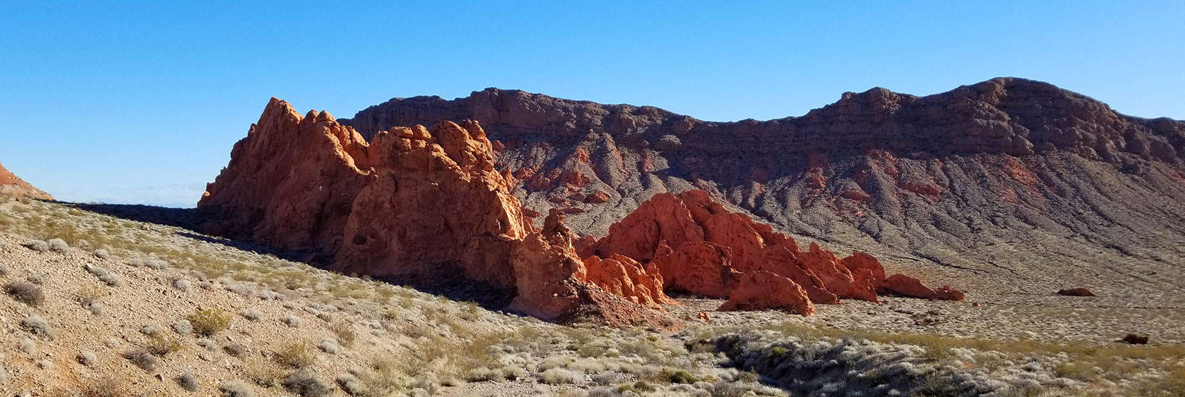 Unique Perspective of the Pinnacles from Above Pinnacles Loop Trail in Valley of Fire State Park, Nevada