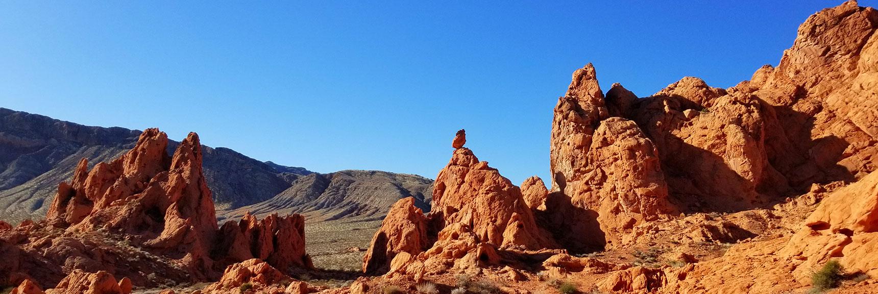 Looking Back on the Pinnales of Pinnacles Loop Trail in Valley of Fire State Park, Nevada