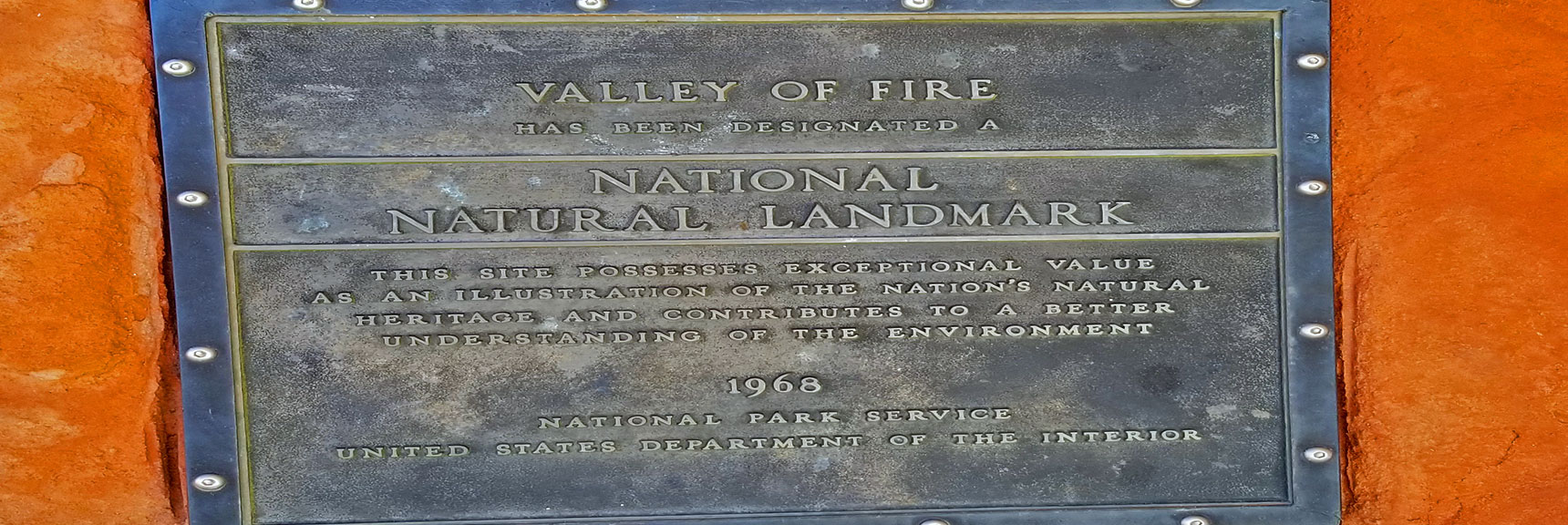 Plaque at Valley of Fire State Park Visitor's Center, Nevada