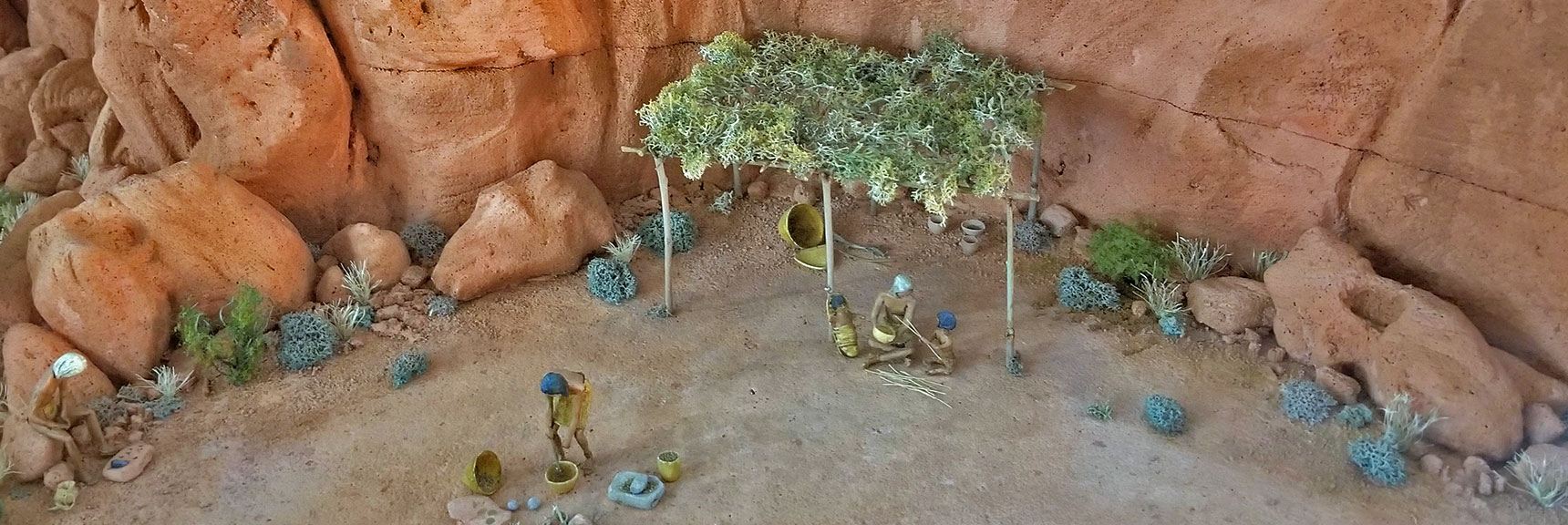 Recreation of Southern Paiute Home in Valley of Fire State Park Visitor Center, Nevada