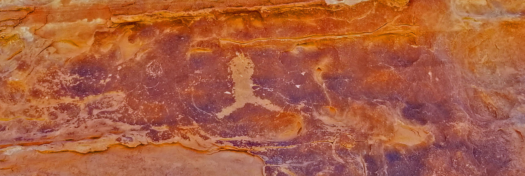 Petroglyphs on Mouse's Tank Trail in Valley of Fire State Park, Nevada, Slide 1