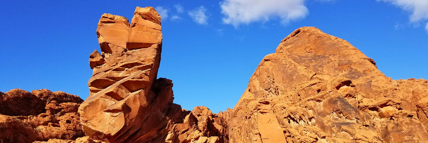 Balancing Rock Beyond Mouse's Tank Trail in Valley of Fire State Park, Nevada