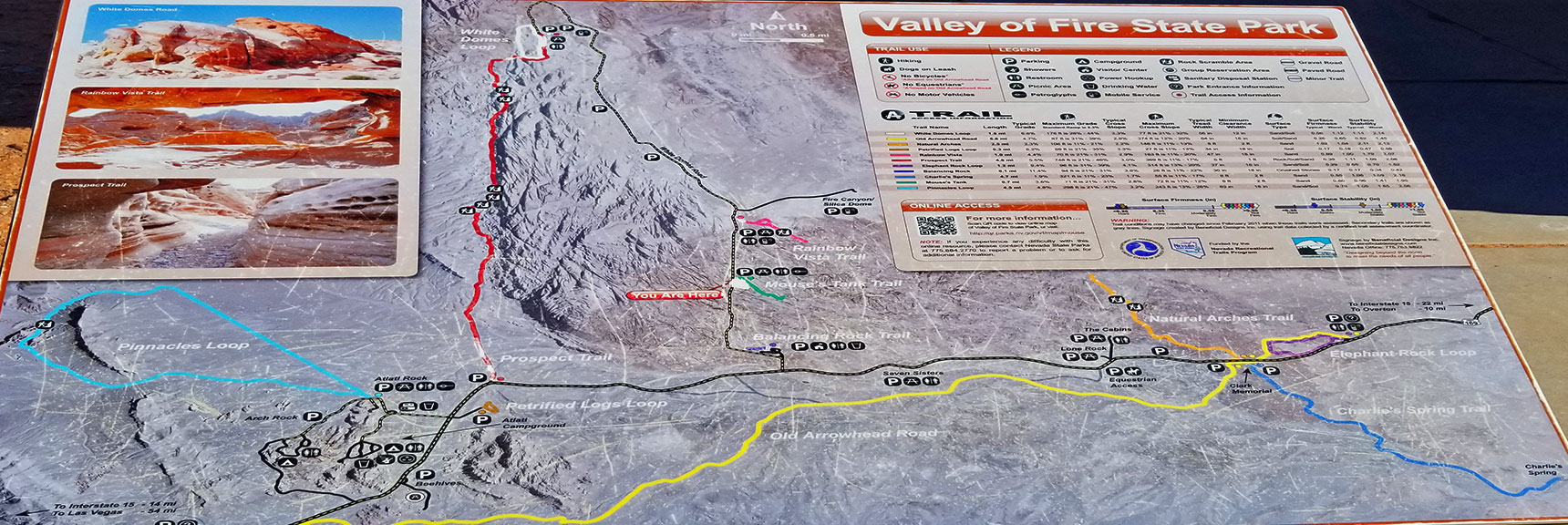 Valley of Fire State Park, Nevada Map