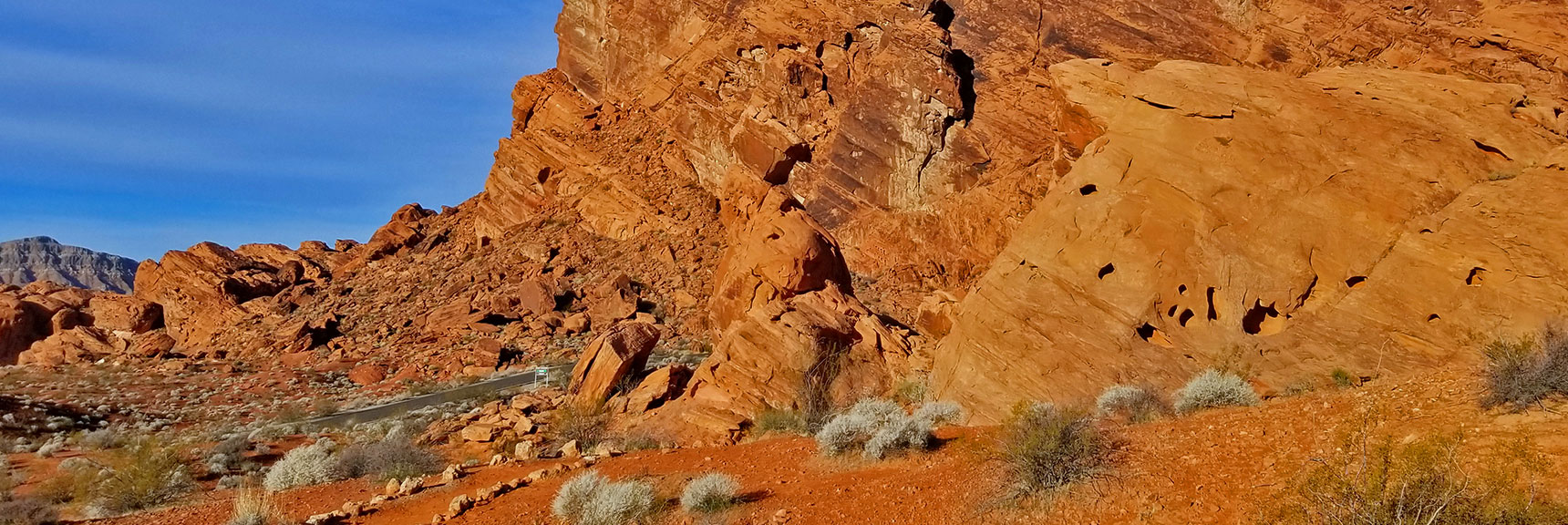 Approaching Balancing Rock in Valley of Fire State Park, Nevada