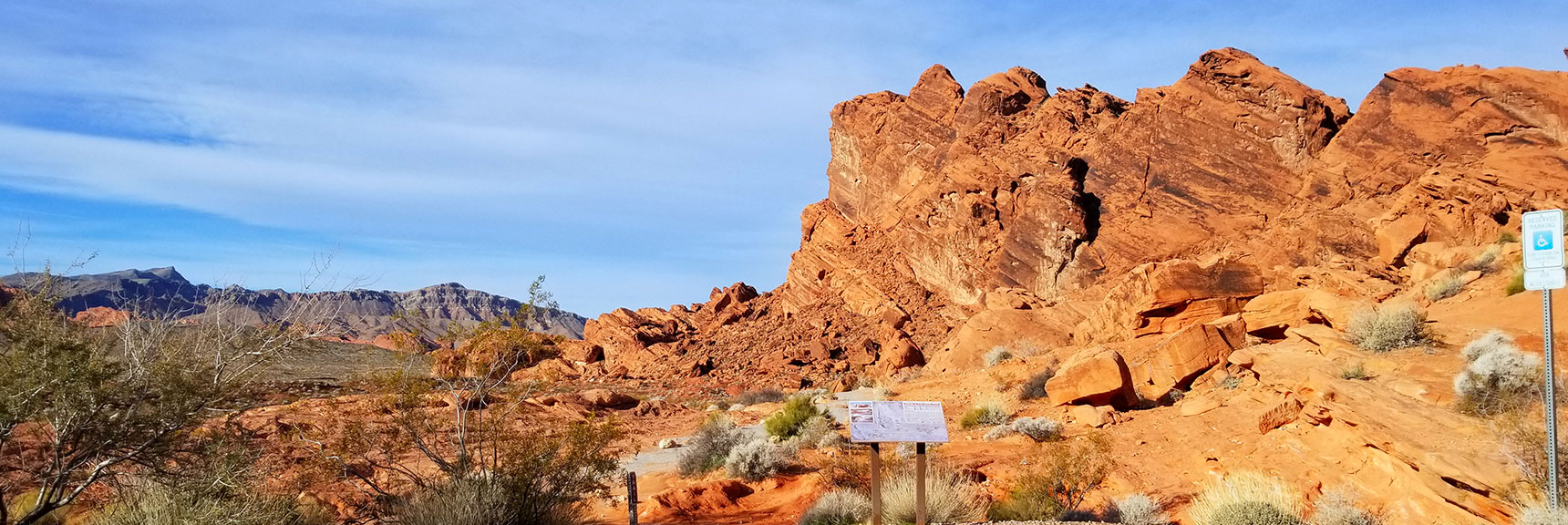 Balancing Rock Trailhead in Valley of Fire State Park, Nevada