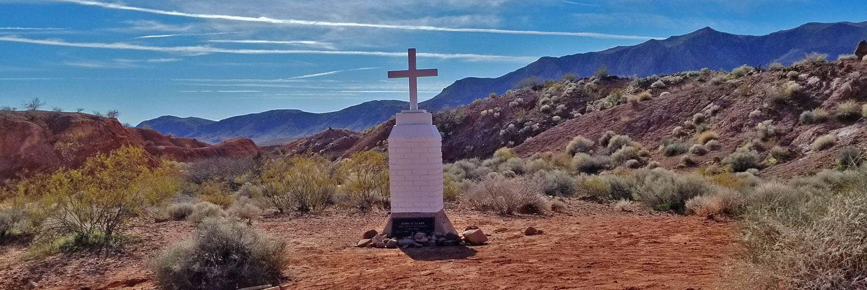 Memorial for John G. Clark at the Beginning of Charlie's Spring Trail, Valley of Fire State Park, Nevada