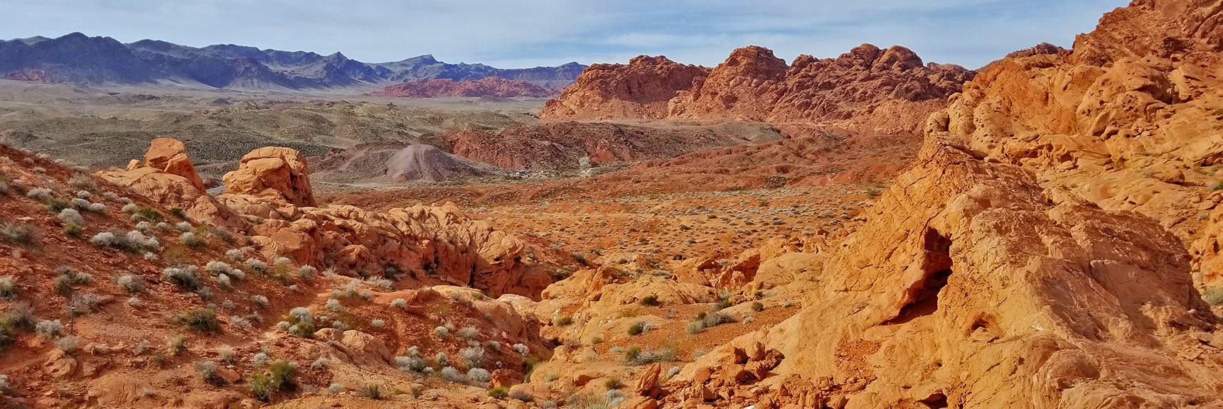 View West of Elephant Rock Loop in Valley of Fire State Park, Nevada
