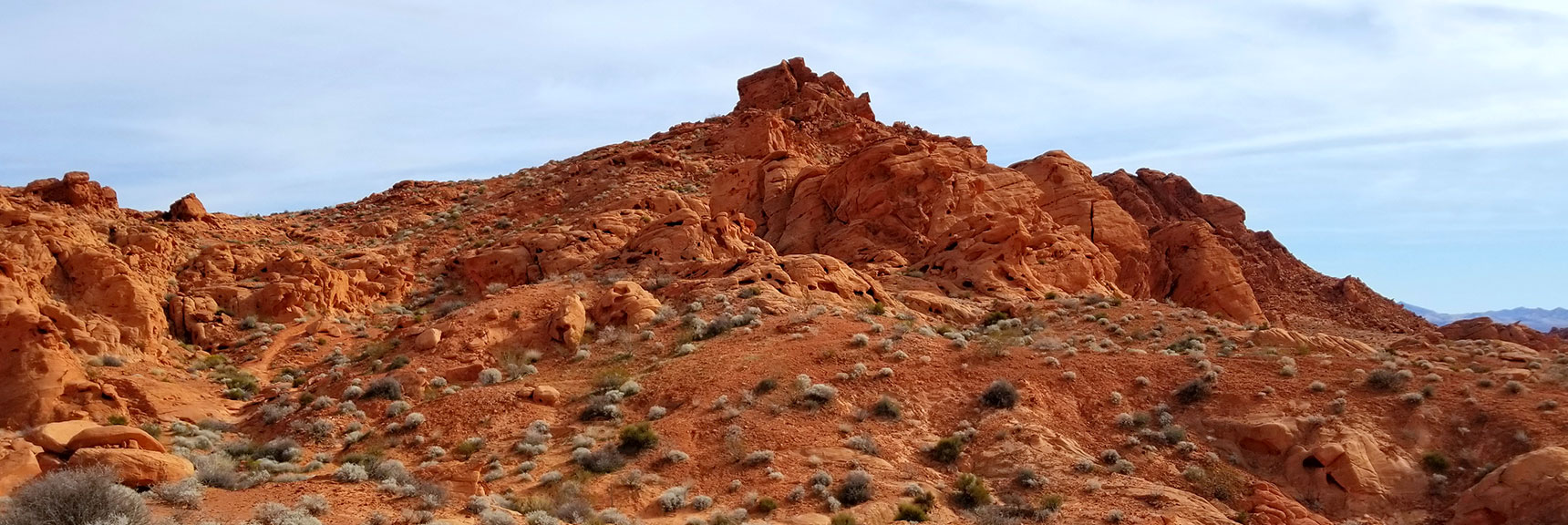 Western View of Elephant Rock Loop in Valley of Fire State Park, Nevada
