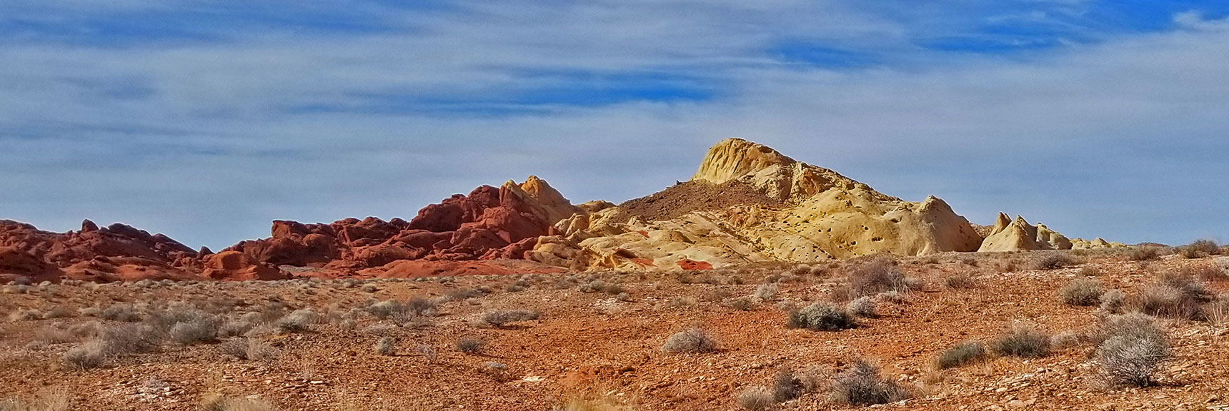 Approaching Fire Canyon Exit at Silica Dome in Valley of Fire State Park, Nevada