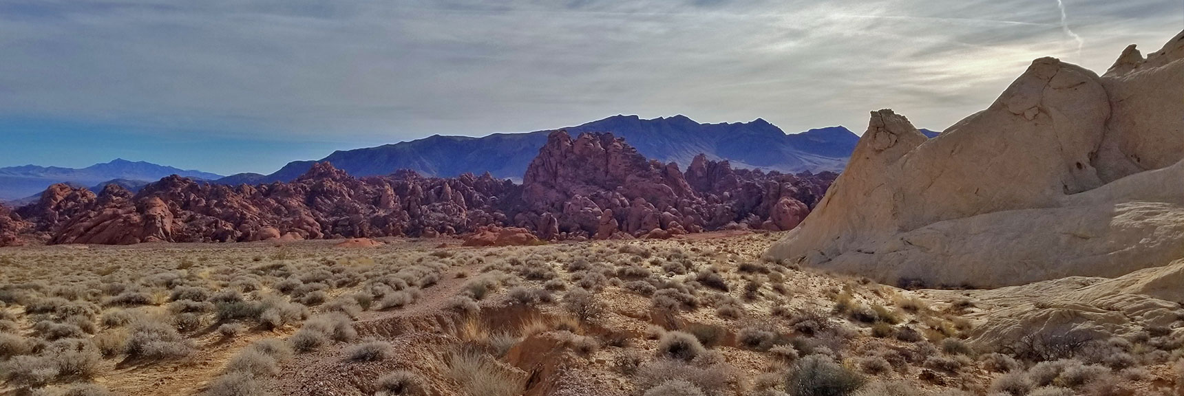 Looking Back on Fire Canyon from Silica Dome and Fire Canyon in Valley of Fire State Park, Nevada