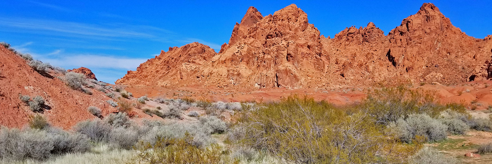 Starting Out on Natural Arches Trail, Valley of Fire State Park, Nevada