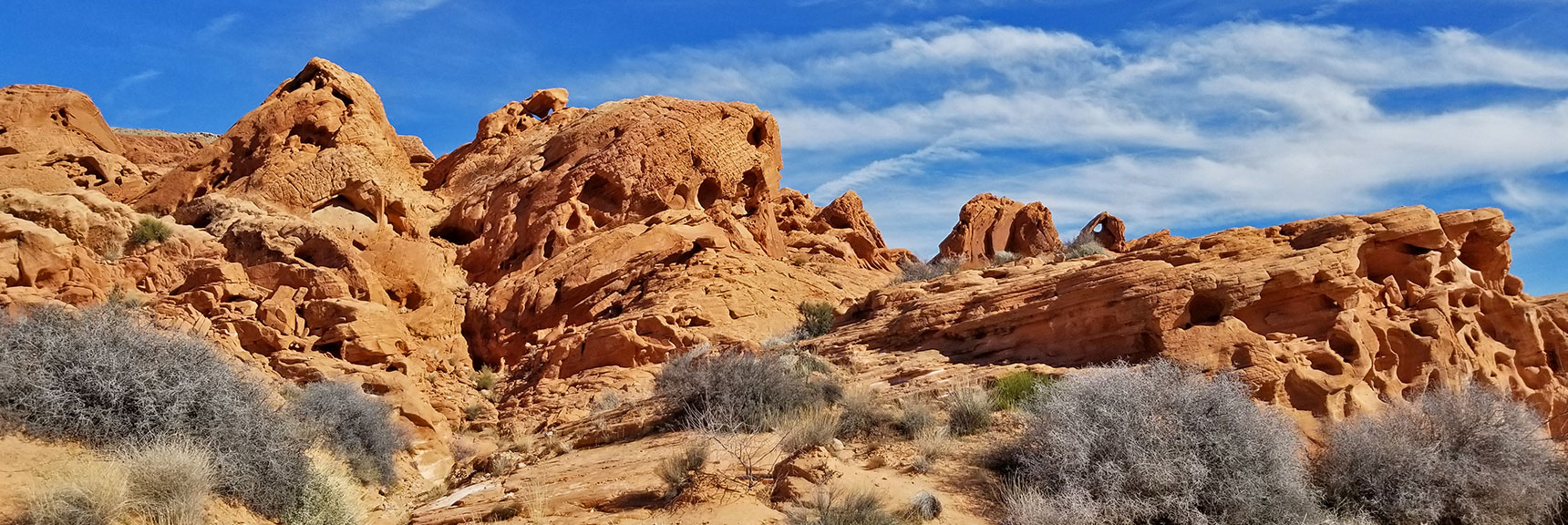 Additional Amazing Rock Formations on Natural Arches Trail, Valley of Fire State Park, Nevada