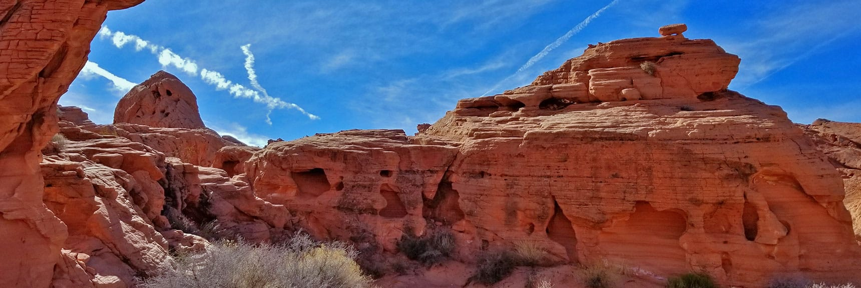 The Shades of Red Deepen While Traveling Further Into Fire Canyon on Natural Arches Trail, Valley of Fire State Park, Nevada