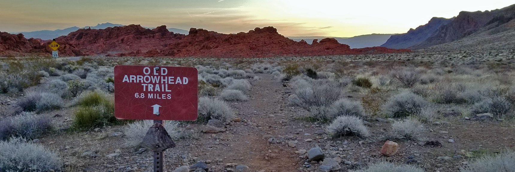 Western Entrance to Old Arrowhead Trail in Valley of Fire State Park, Nevada