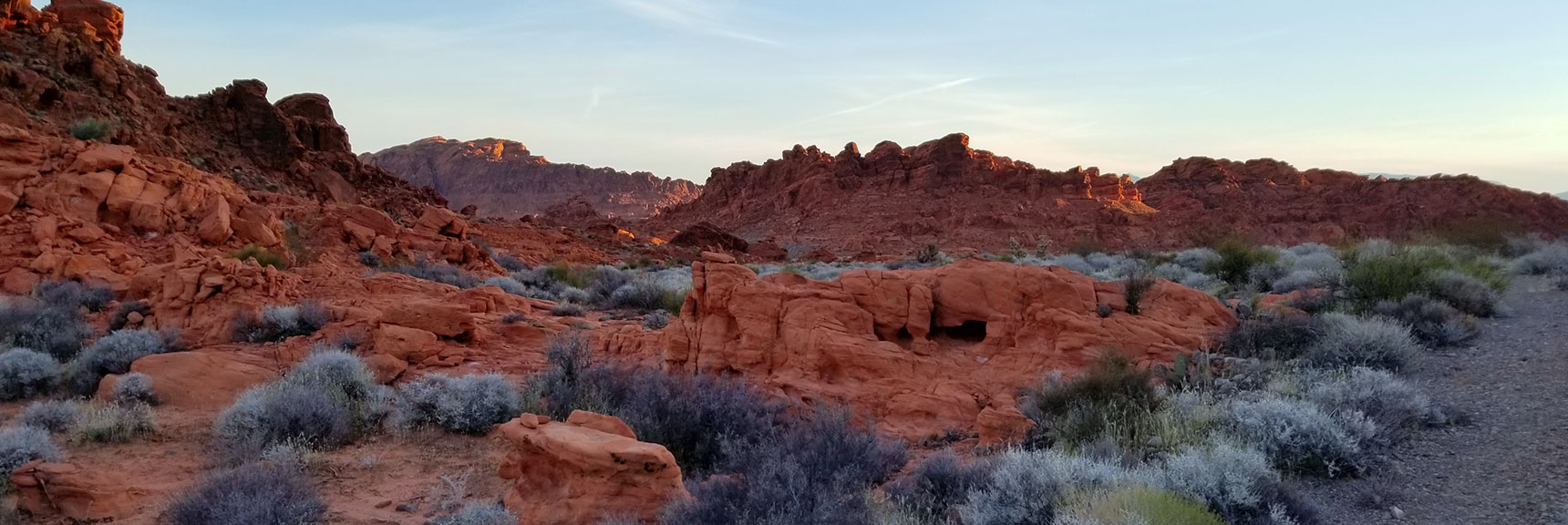 View Behind the Bee Hives Formations on Old Arrowhead Trail in Valley of Fire State Park, Nevada